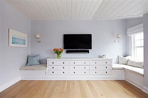 beach bungalow bedroom  tv  built  dresser