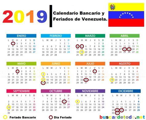 calendario bancario feriados de venezuela buscar
