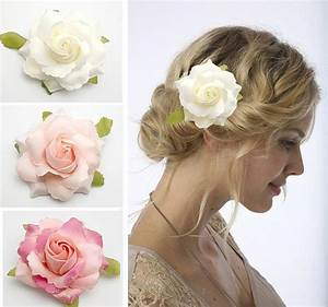 10px Bridal Hair Flower Rose Flower Clip Wedding Party