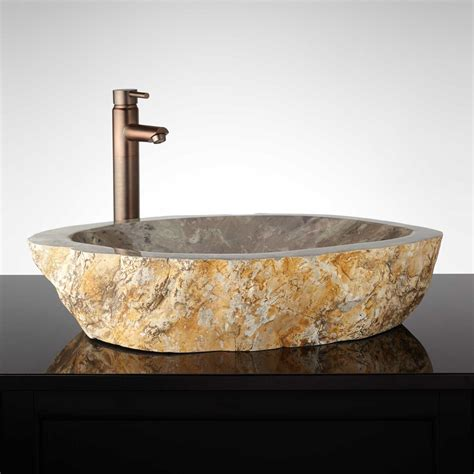 Sleek Stone Vessel Sink  Signaturehardwarecom