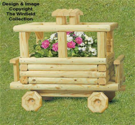 planter woodworking plans landscape timber caboose