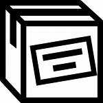 Label Box Outline Cargo Icon Clipart Icons