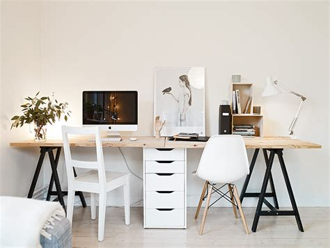 bureau industriel metal bois idée un bureau sur tréteaux 12 inspirations et une