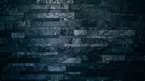 Download Wallpaper 3840x2160 Wall Bricks Tile Dark
