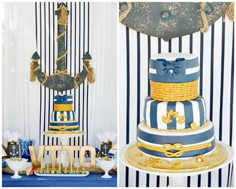 Nautical First Birthday Party  Pretty My Party  Party Ideas