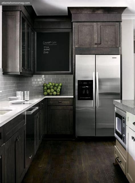dark rustic wood mixed  modern elements gray white