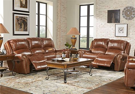 abruzzo brown  pc reclining leather living