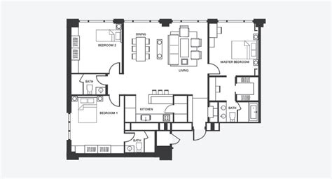 4 bedroom floor plans one three bedroom serviced apartment fraser place central seoul