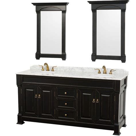 white marble vanity top wyndham collection andover 72 in vanity in antique black