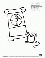 Dock Hickory Dickory Coloring Worksheets Speakaboos Template Printable Preschool Printables Nursery Comments Visit sketch template