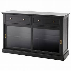 malsjo meuble bas teinte noir 145x92 cm ikea With teindre un meuble deja teint