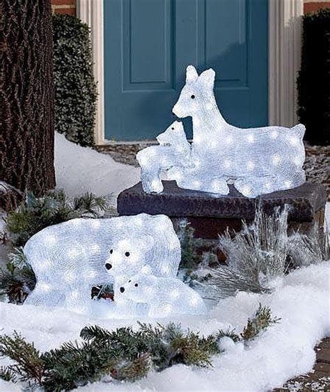 led lighted yard decor and baby reindeer