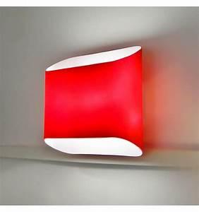 Applique Murale Led : applique murale rouge led design verre ~ Melissatoandfro.com Idées de Décoration