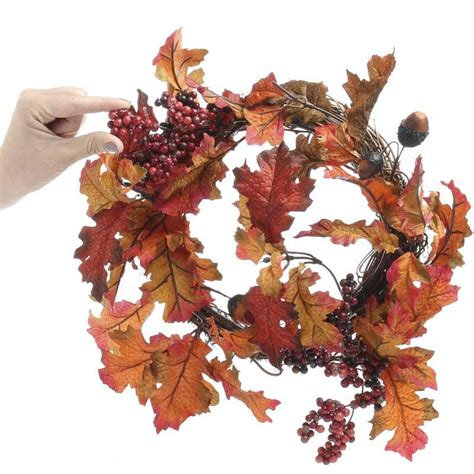 fall artificial acorn and berry wreath wreaths floral