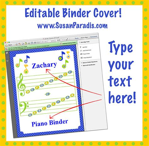 editable binder cover templates personalize your binder covers an editable pdf susan paradis piano teaching resourcessusan