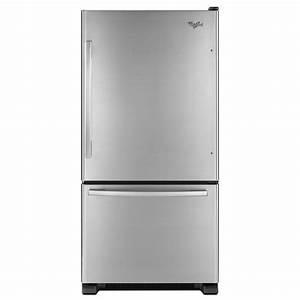 Whirlpool Gold Bottom Freezer Refrigerator 21 9 Cu  Ft