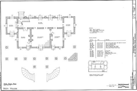 Floor Plans Evergreen Plantation, Wallace, St John the