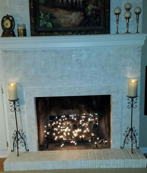 Lights Fireplace - twinkle lights in fireplace fireplace decor in 2019