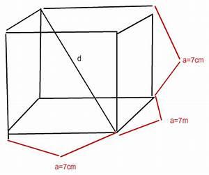 Kantenlänge Würfel Berechnen : w rfel berechne die l nge der raumdiagonalen d eines w rfels mit der kantenl nge 7cm mathelounge ~ Themetempest.com Abrechnung