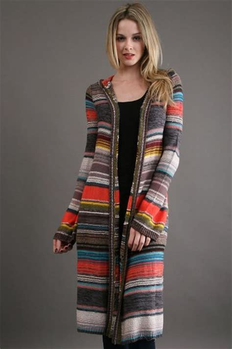 people serape cardigan black combo  multicolor