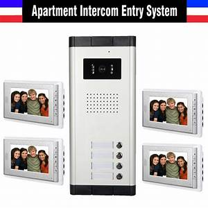2 units apartment intercom system 4 3 monitor video door small apartment video intercom door for Apartment video intercom