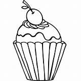 Coloring Cupcake sketch template