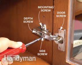 fixing kitchen cabinet doors kitchen cabinets 9 easy repairs the family handyman 7223