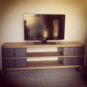 Idee Meuble Tv Fait Maison : les 25 meilleures id es de la cat gorie meuble tv palette sur pinterest meuble tv en palette ~ Melissatoandfro.com Idées de Décoration