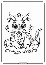 Coloring Printable Dinosaur Animals Tweet Whatsapp sketch template