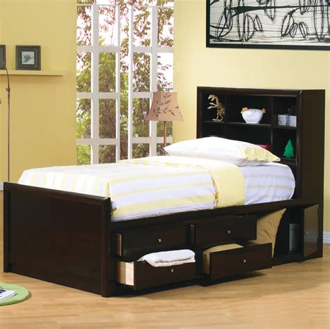 Bed Bookcase by Coaster 400180f Bookcase Bed With Underbed