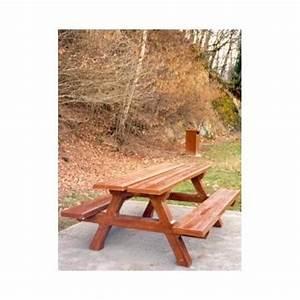 Table Beton Bois : table pique nique beton aspect bois ~ Premium-room.com Idées de Décoration