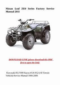 Kawasaki Klf300 Bayou 4x4 4x2  All Terrain Vehicle
