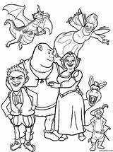Shrek Coloring Pages Fiona Printable Sheets Friends Disney Cool2bkids Colouring Cartoon Print Activity Man Movie Princess Activities Colour Character Drawing sketch template