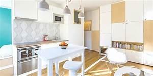 25 idees deco pour egayer une cuisine blanche femme actuelle With quelle couleur pour les toilettes 9 conseils pour repeindre la cuisine un mur un meuble un