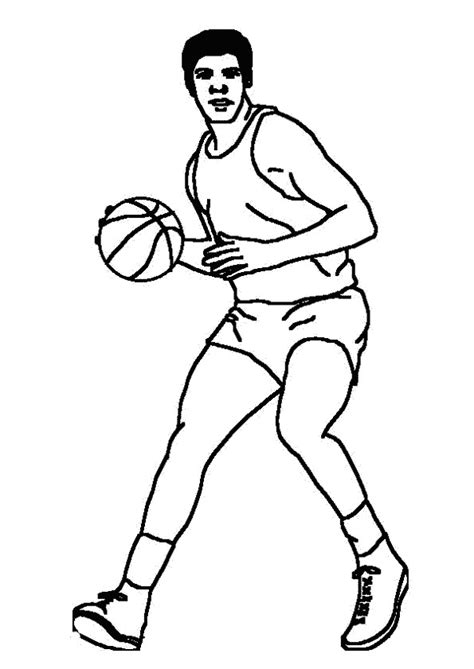 Kleurplaat Basketbal by N 17 Kleurplaten Basketbal