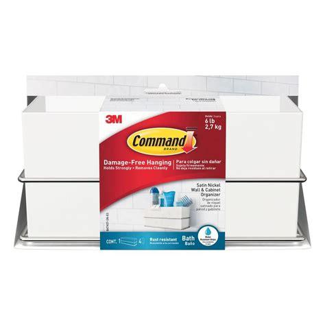 Kitchen Cabinet Organization Ideas - command satin nickel wall and cabinet organizer 1 organizer 4 water resistant strips bath37