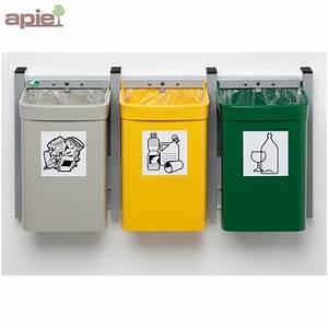 Poubelle De Tri Selectif : poubelle murale pour tri s lectif ~ Farleysfitness.com Idées de Décoration