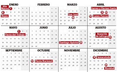 calendario del venezuela