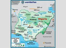 Nigeria Maps Including Outline and Topographical Maps