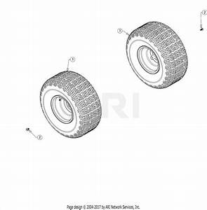 Troy Bilt 13an77bs011 Pony  2017  Parts Diagram For Wheels
