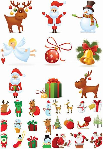 Santa Cartoon Clipart Claus Vector Graphics Christmas
