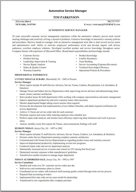 Automotive Parts Manager Resume by Sales Resume Skills Auto Parts Sales Resume Resume
