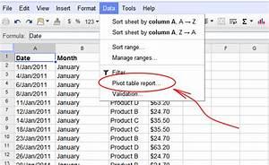 Google spreadsheets pivot tables for Google docs spreadsheet pivot table