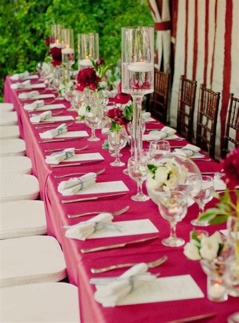 fuchsia wedding table decorations fuchsia and pink wedding color combination ideas