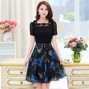 New 2017 Summer Korean Fashion Slim Casual Women'S Dresses ...