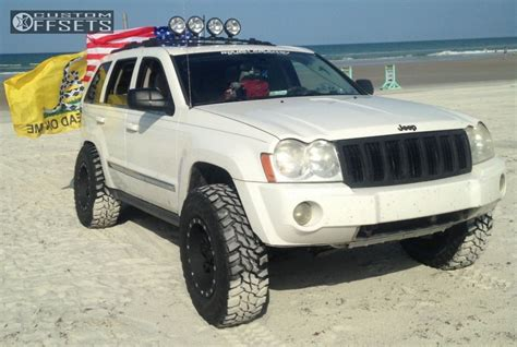 2006 jeep grand cherokee custom wheel offset 2006 jeep grand cherokee super aggressive 3 5
