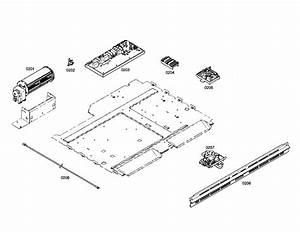 Fan  Control Unit  Door Latch Diagram  U0026 Parts List For Model Hbl3350uc01 Bosch