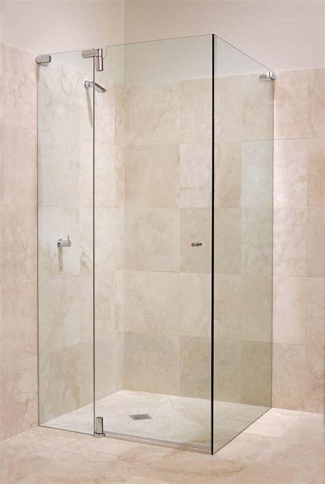 Frameless Pivot Shower Screens   White Bathroom and Co