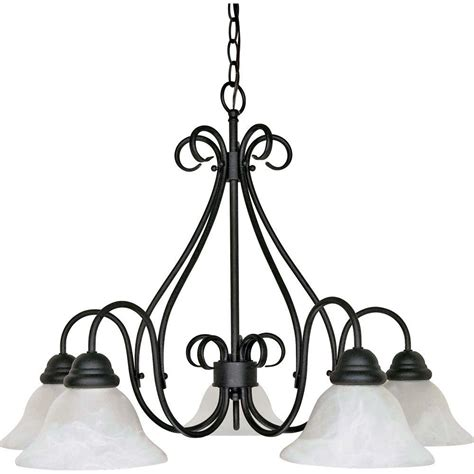 Black Chandeliers by Glomar Adria 5 Light Textured Flat Black Chandelier With