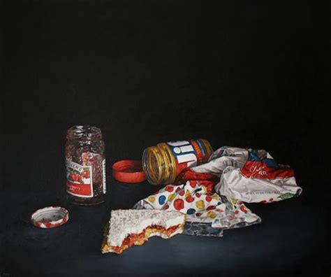 hyperrealistic junk food paintings  pamela michelle